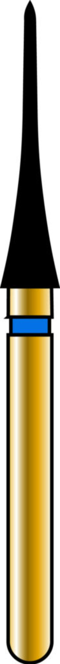 Interproximal 21-10mm Gold Diamond Bur