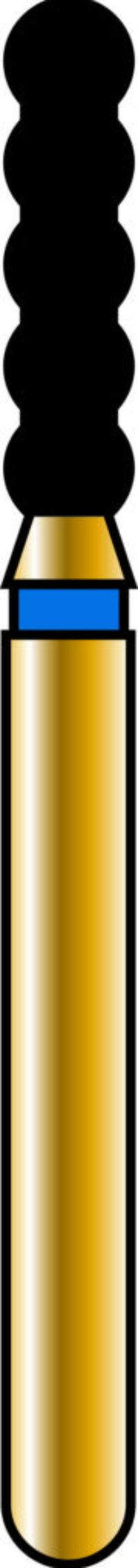 Cylinder 18-6mm Gold Diamond Bur