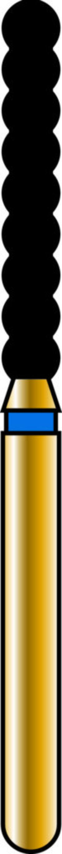 Cylinder 18-10mm Gold Diamond Bur