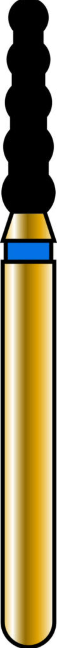 Cylinder 18-6mm Gold Diamond Bur - Super Coarse Grit