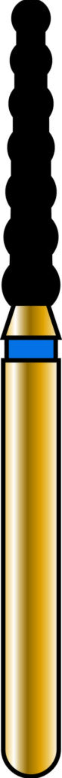 Cylinder 18-8mm Gold Diamond Bur