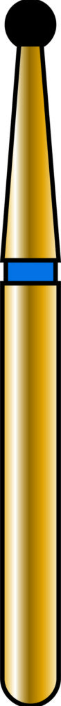 Round 14mm Gold Diamond Bur