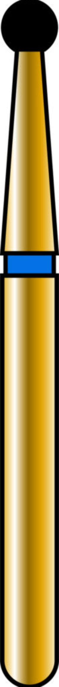 Round 16mm Gold Diamond Bur