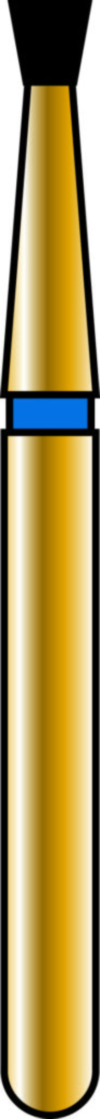 Inverted Cone 14-1.4mm Gold Diamond Bur - Coarse Grit