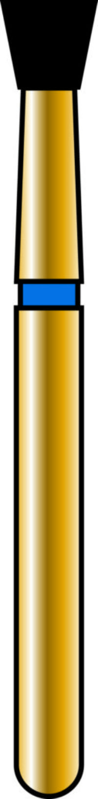 Inverted Cone 23-2.1mm Gold Diamond Bur - Coarse Grit