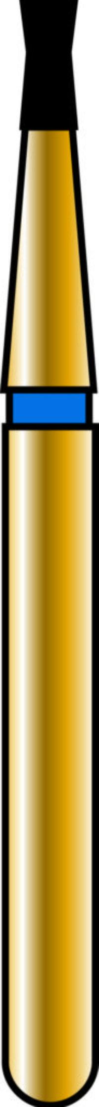 Double Cone 10-2.2mm Gold Diamond Bur - Coarse Grit