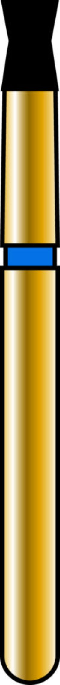 Double Cone 16-2.5mm Gold Diamond Bur - Coarse Grit