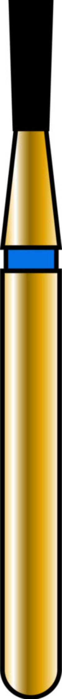 Inverted Cone 12-3.5mm Gold Diamond Bur - Coarse Grit