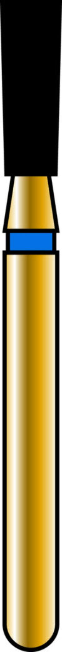 Inverted Cone 18-5mm Gold Diamond Bur - Coarse Grit