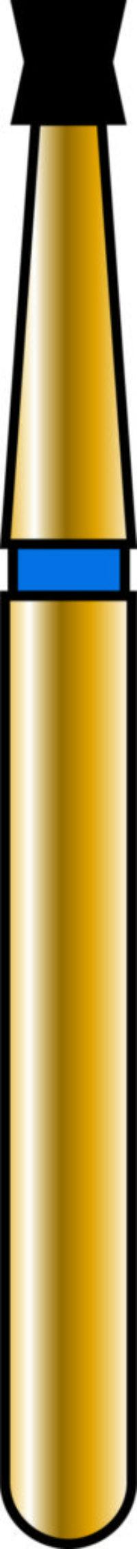 Double Cone 14-1.5mm Gold Diamond Bur - Coarse Grit