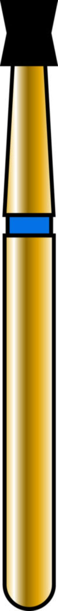 Double Cone 18-2mm Gold Diamond Bur - Coarse Grit