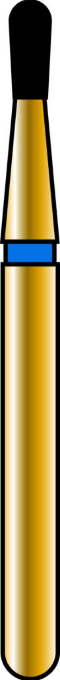 Pear 12-2.7mm Gold Diamond Bur