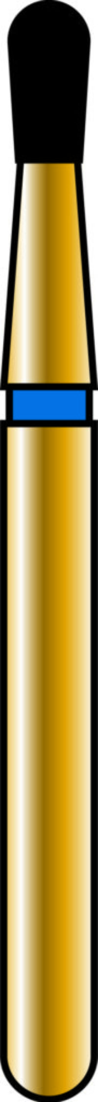 Pear 14-2.7mm Gold Diamond Bur