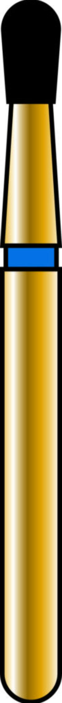 Pear 16-2.7mm Gold Diamond Bur - Coarse Grit