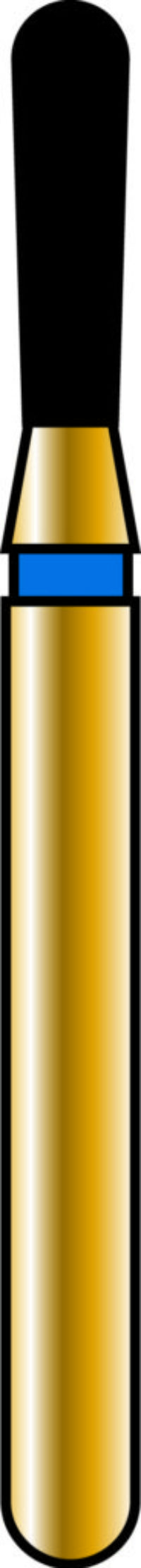 Pear 14-5mm Gold Diamond Bur - Coarse Grit