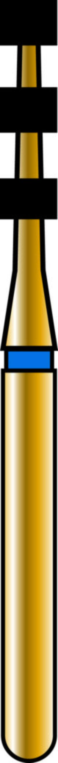Depth Cutting 21-6.8mm Gold Diamond Bur - Coarse Grit