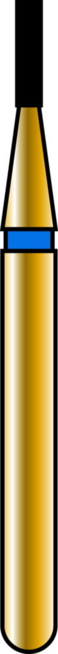 Flat End Cylinder 08-3mm Gold Diamond Bur