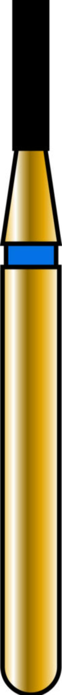 Flat End Cylinder 10-4mm Gold Diamond Bur