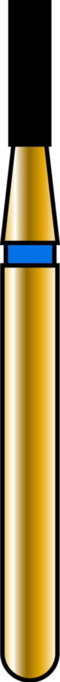 Flat End Cylinder 12-4mm Gold Diamond Bur