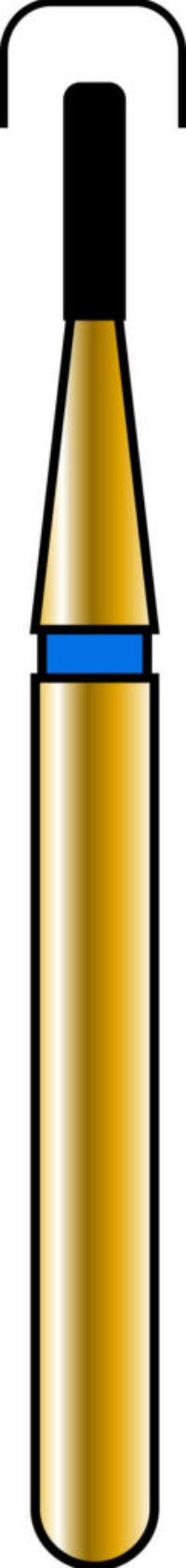 Round Edge Cylinder 08-3mm Gold Diamond Bur - Coarse Grit