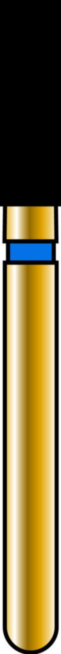 Flat End Cylinder 18-6mm Gold Diamond Bur - Coarse Grit