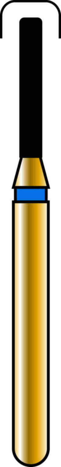 Round Edge Cylinder 10-6mm Gold Diamond Bur