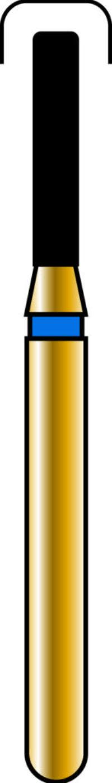 Round Edge Cylinder 12-6mm Gold Diamond Bur - Coarse Grit