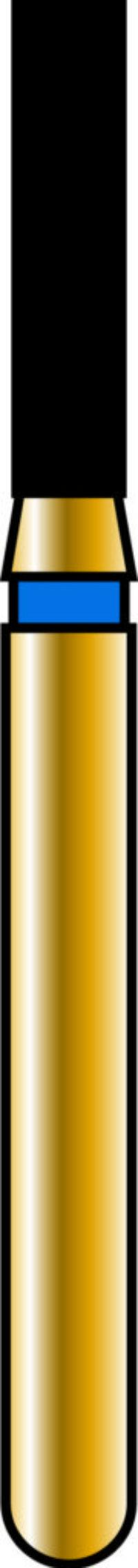 Flat End Cylinder 14-6mm Gold Diamond Bur