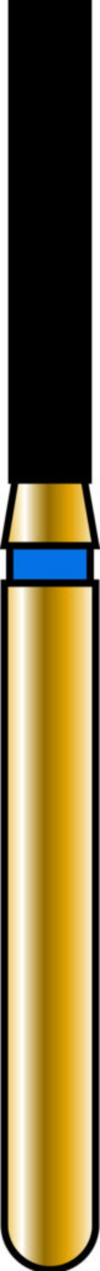 Flat End Cylinder 14-8mm Gold Diamond Bur