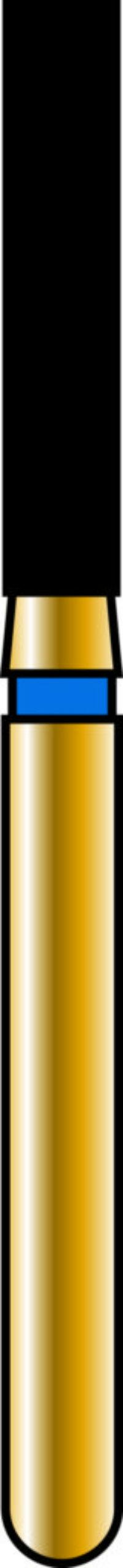 Flat End Cylinder 16-8mm Gold Diamond Bur