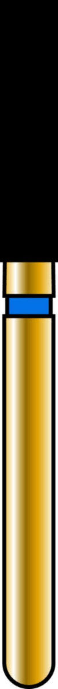 Flat End Cylinder 18-8mm Gold Diamond Bur