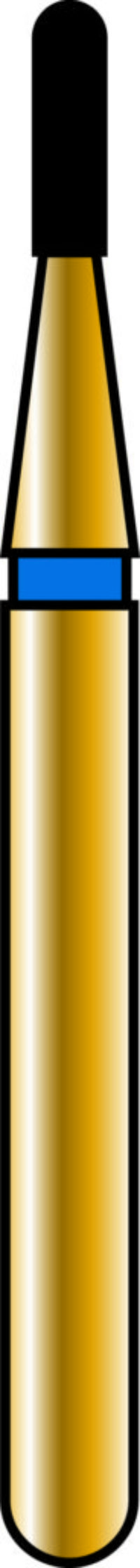 Round End Cylinder 09-3mm Gold Diamond Bur - Coarse Grit