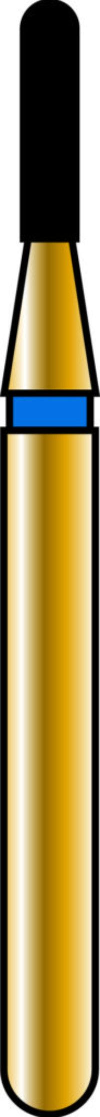 Round End Cylinder 10-4mm Gold Diamond Bur