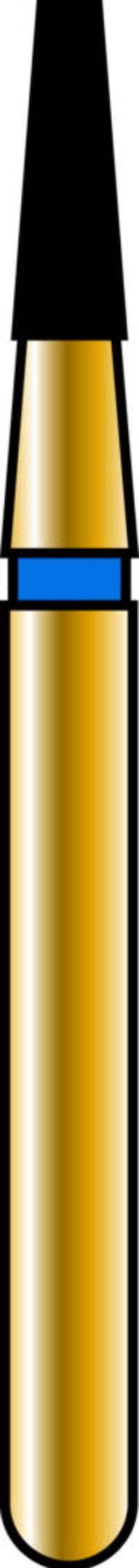 Flat End Taper 14-4mm Gold Diamond Bur - Coarse Grit