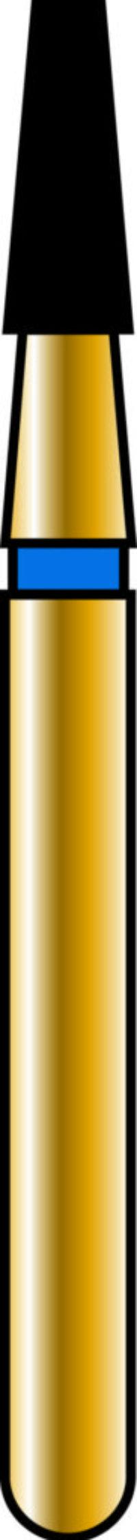 Flat End Taper 16-4mm Gold Diamond Bur - Coarse Grit