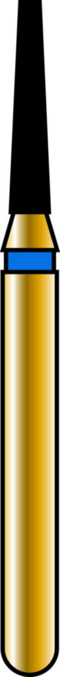 Flat End Taper 12-6mm Gold Diamond Bur - Coarse Grit