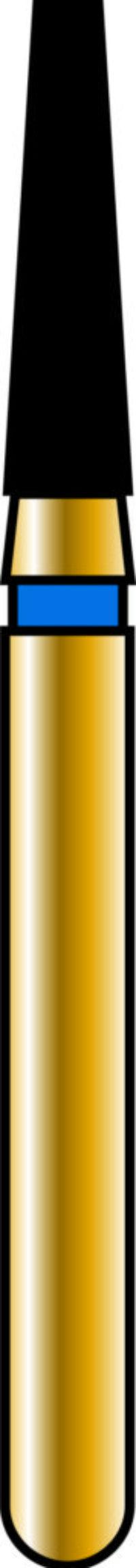Flat End Taper 16-6mm Gold Diamond Bur - Coarse Grit