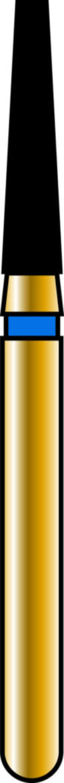 Flat End Taper 16-7mm Gold Diamond Bur