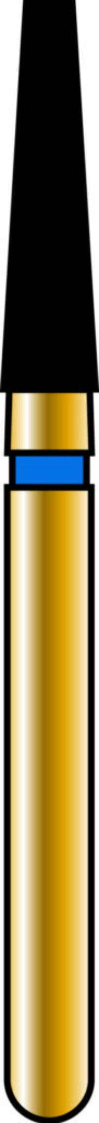 Flat End Taper 18-7mm Gold Diamond Bur - Coarse Grit