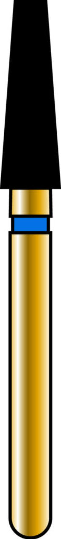 Flat End Taper 23-7mm Gold Diamond Bur - Coarse Grit
