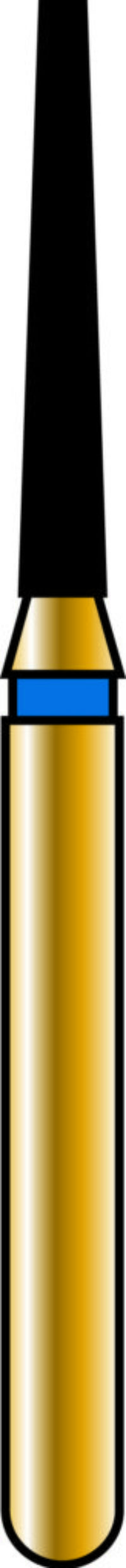 Flat End Taper 12-8mm Gold Diamond Bur