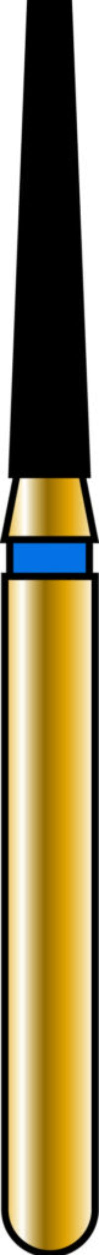 Flat End Taper 14-8mm Gold Diamond Bur - Coarse Grit