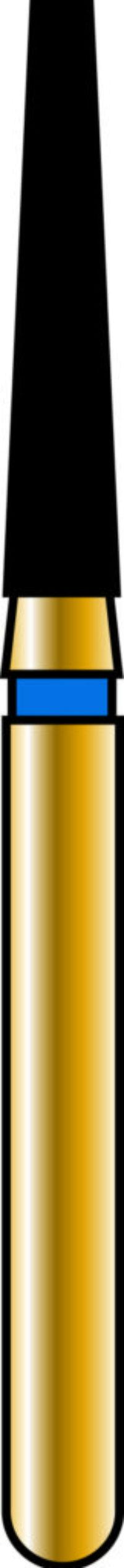 Flat End Taper 16-8mm Gold Diamond Bur