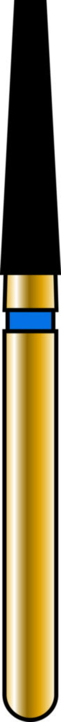 Flat End Taper 18-8mm Gold Diamond Bur