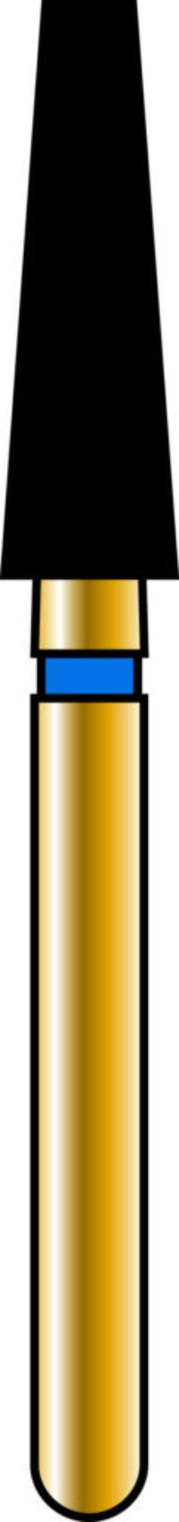 Flat End Taper 25-8mm Gold Diamond Bur