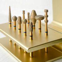 Gold Diamond Dental Burs
